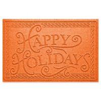 """Weather Guard™ """"Happy Holidays"""" 23"""" x 35"""" Door Mat in Orange"""