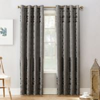 Sun Zero Elidah 63-inch Grommet Blackout Window Curtain Panel in Grey