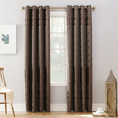 Sun Zero Elidah 63 Inch Grommet Blackout Window Curtain Panel In Mocha