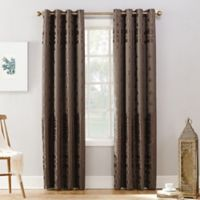 Sun Zero Elidah 95-inch Grommet Blackout Window Curtain Panel in Mocha
