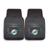 NFL Miami Dolphins Vinyl Car Mats (Set of 2)