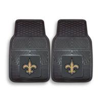 NFL New Orleans Saints Vinyl Car Mats (Set of 2)