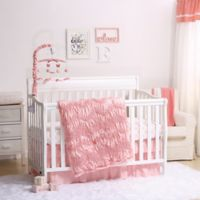 The Peanutshell ™ Jayden 4-Piece Crib Bedding Set in Light Coral