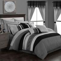 Chic Home Yair 24-Piece Queen Comforter Set in Grey