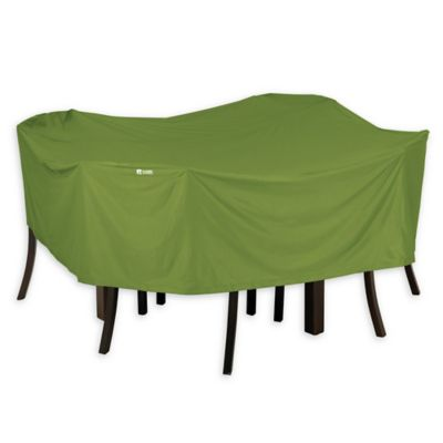 Classic Accessories® SODO™ Plus Outdoor Square Patio Table And Chairs Cover  In Green