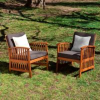 Southern Enterprises Catania 2-Piece Outdoor Armchairs in Grey/Ecru