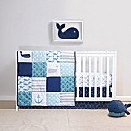 Belle Nautical 4-Piece Crib Bedding Set in Navy/White
