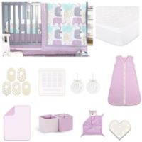 The Peanutshell™ Little Peanut Lilac 18-Piece Nursery Essentials Set