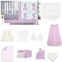 The Peanut Shell Little Lilac 18 Piece Nursery Essentials Set