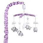 The Peanut Shell® Elephant Musical Mobile in Purple