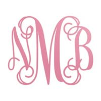 Oversized Wood Monogram Plaque in Pink