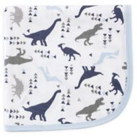 Touched by Nature Dino Organic Cotton Knit Blanket in Blue