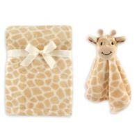 Hudson Baby® Giraffe Plush Security Blanket Set in Grey