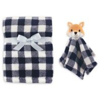 Hudson Baby® Fox Plush Security Blanket Set in Blue