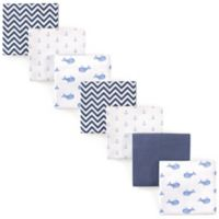 Hudson Baby® Whale Flannel 4-Pack Receiving Blankets in Blue