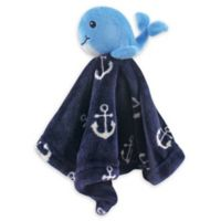 Hudson Baby® Whale Plush Velboa Security Blanket in Blue