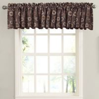 Sun Zero Galvan Rod Pocket Room Darkening Window Valance in Chocolate