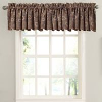 Sun Zero Galvan Rod Pocket Room Darkening Window Valance in Taupe