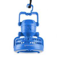 Wakeman 2-in-1 LED Camping Lantern with Fan in Blue