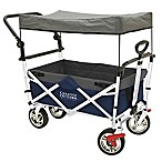 Creative Outdoor™ Push and Pull Folding Wagon with Canopy in Navy/Grey
