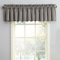 Sun Zero Bella Rod Pocket Room Darkening Window Valance in Grey