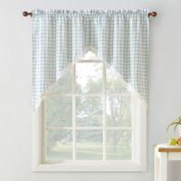 No. 918 Maisie Plaid 38-Inch Rod Pocket Window Curtain Swag Pair in Aloe