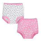 Gerber® Size 2T 2-Pack Cloth Training Pants in Pink/White