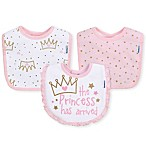 Gerber® 3-Pack Princess Terry Dribbler Bib in Pink