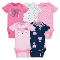 Gerber® ONESIES® Brand Size 0-3M 5-Pack Fox Bodysuits in Pink