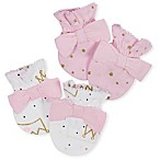 Gerber® Size 0-3M 2-Pack Princess Mittens in Pink/Gold
