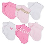 Gerber® Size 3-6M 6-Pack Princess Terry Ankle Bootie Socks in Pink