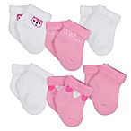 Gerber® Size 3-6M 6-Pack Heart Terry Ankle Bootie Socks in Pink/Blue