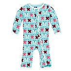 KicKee Pants® Size 0-3M Butterfly Coverall in Blue