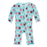 KicKee Pants® Newborn Butterfly Coverall in Blue