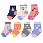 OshKosh B'gosh® Size 3-12M 7-Pack Days of the Week Socks