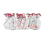 Sterling Baby 3-Pack Floral Mitts in White