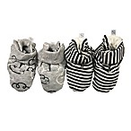 Sterling Baby 2-Pack Striped Booties in Black