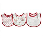 Sterling Baby 3-Pack Floral Bibs in Pink