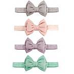 Tiny Treasures 4-Pack Double Bow Headbands