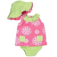 Gerber® Size 6-9M 3-Piece Dress Set in Pink/Lime