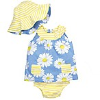 Gerber® Size 12M 3-Piece Dress Set in Blue Daisies