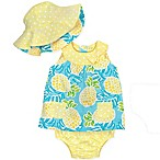 Gerber® Size 3-6M 3-Piece Pineapple Dress Set in Yellow