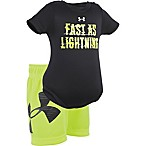 Under Armour® Size 0-3M 2-Piece Fast as Lightning Bodysuit and Short Set in Yellow/Black