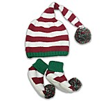 Toby™ NYGB 2-Piece Holiday Stripe Hat & Bootie Set