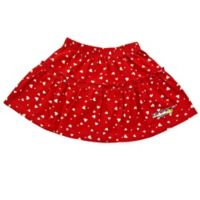 EZ-On BaBeez™ Size 9-12M White Heart Ruffled Skirt in Red
