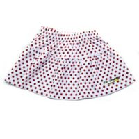 EZ-On BaBeez™ Newborn Red Dot Ruffled Skirt in White