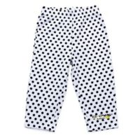 EZ-On BaBeez™ Size 12-18M Black Dot Legging in White