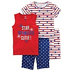 carter's® Size 18M 4-Piece Star Spangled Cutie Pajama Set in Red/Blue