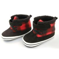 Rising Star™ Size 3-6M Buffalo Plaid Boot in Red