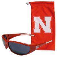 University of Nebraska Sunglasses and Bag Set